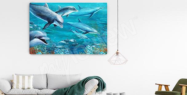 Image dauphins dans l'océan