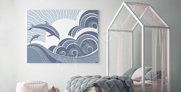 Image dauphins fabuleux