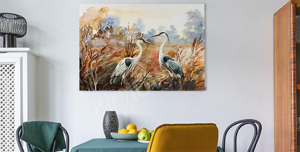 Image d'automne avec des oiseaux