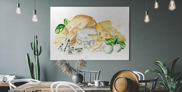 Image de différentes variétés de fromage