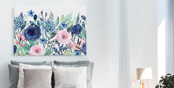 Image fleurs et feuilles de philodendron