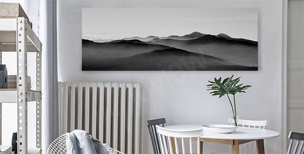 Image de montagnes pour salle à manger