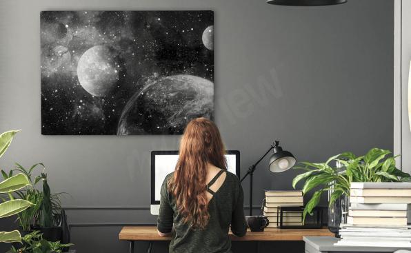 Image de plančte monochrome
