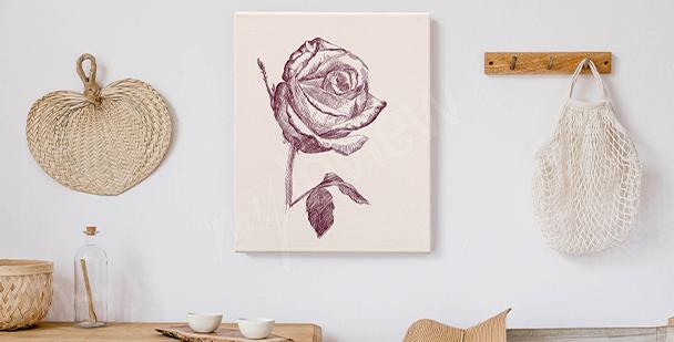Image dessin de rose