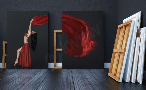 Image dyptique avec une danseuse