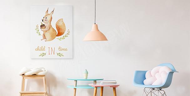 Image écureuil style scandinave