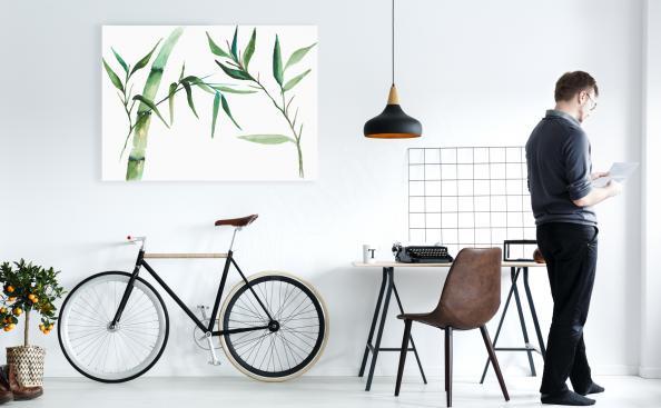 Image en bambou minimaliste