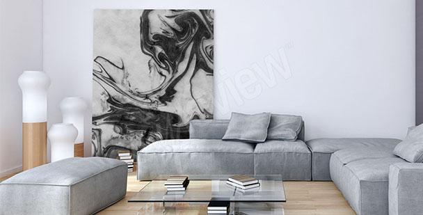 Image en noir et blanc pour salon