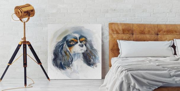 Image de chien noir pour un salon