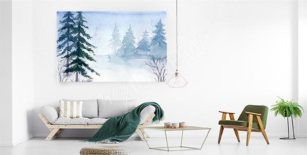 Image épicéas dans la neige