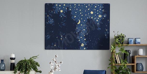 Image étoile au-dessus de la forêt