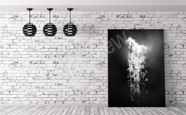 Image fantasy cheval noir et blanc