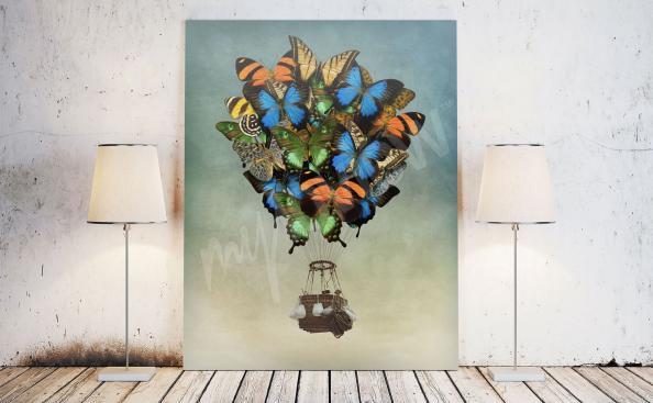 Image fantasy papillons colorés