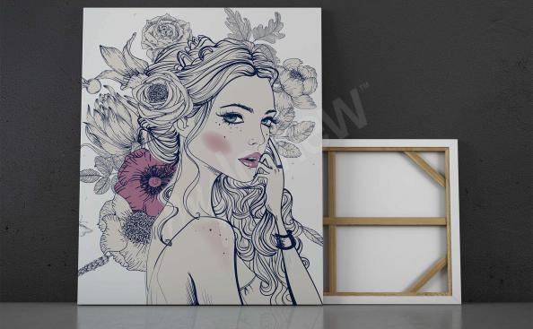 Image femme et fleurs
