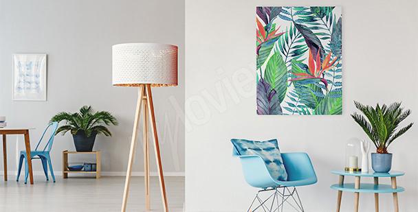 Image feuilles en couleur
