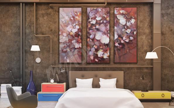 Image fleurs - chambre à coucher
