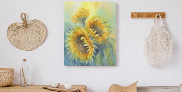 Image fleurs ensoleillées