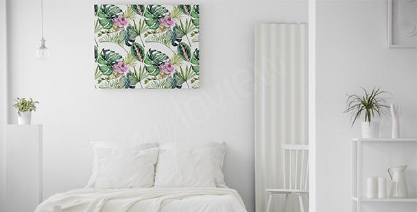 Image fleurs et feuilles