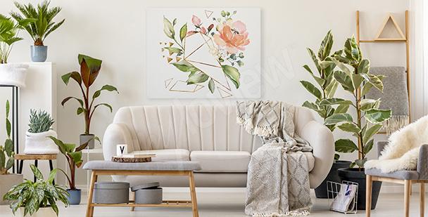 Image fleurs et géométrie
