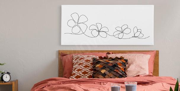 Image fleurs line art