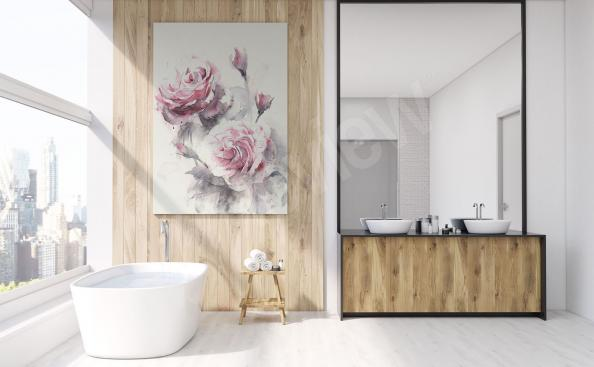 Image fleurs pour salle de bains