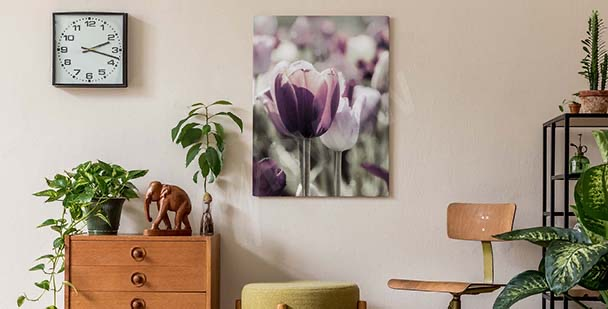 Image avec tulipes pour chambre à coucher