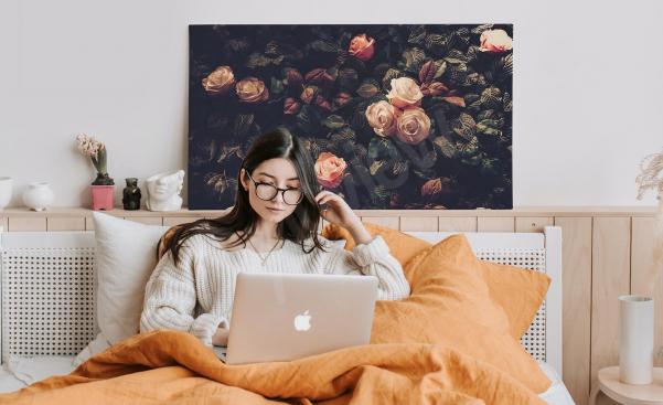 Image florale avec des roses