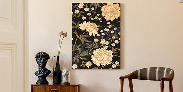 Image florale rétro