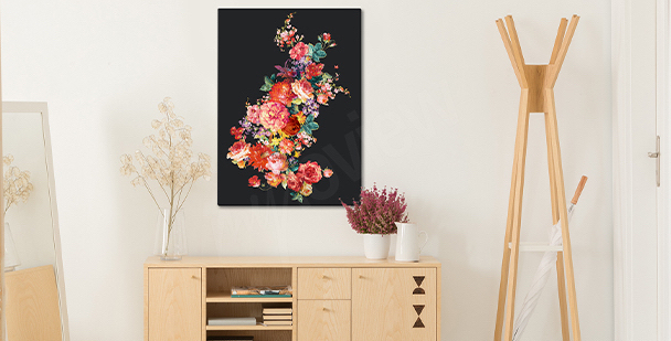 Image florale sur un fond sombre