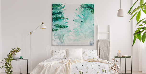 Image forêt aquarelle