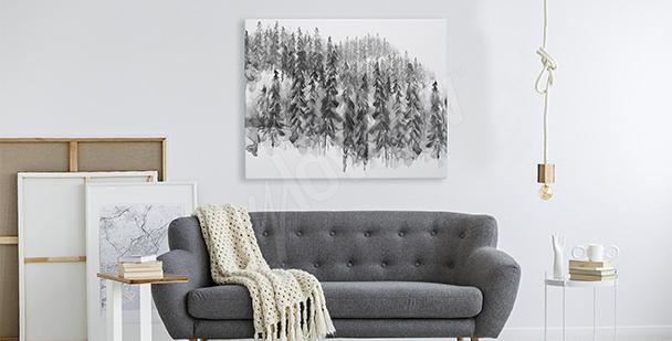 Image forêt noir et blanc