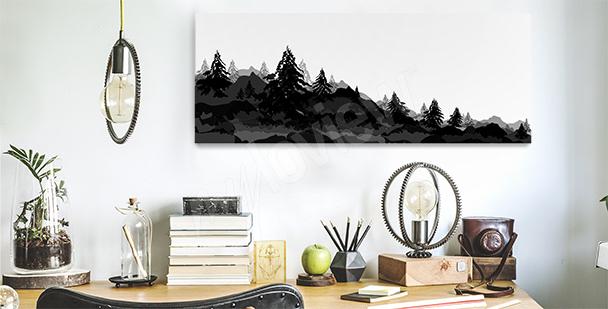 Image forêt pour un bureau
