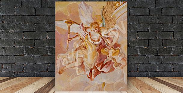 Image fresque baroque ange