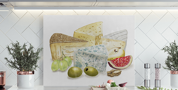 Image fromage et fruits