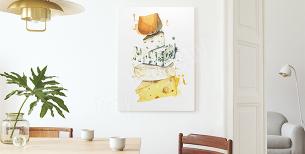 Image fromage version aquarelle