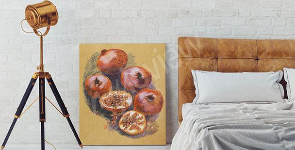 Image fruits pour chambre à coucher
