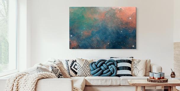 Image galaxy en couleur