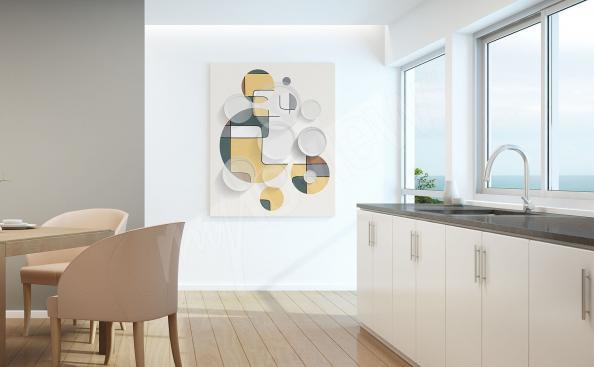 Image géométrique pour cuisine