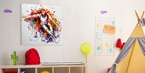 Image joueur de basket-ball version aquarelle