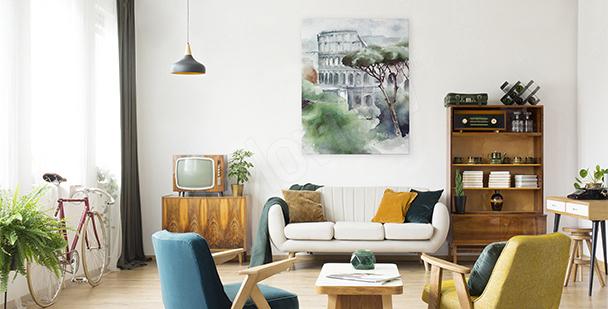 Image le Colisée aquarelle