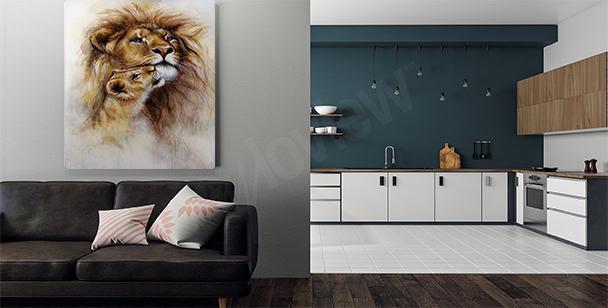 Image lion dans son milieu naturel