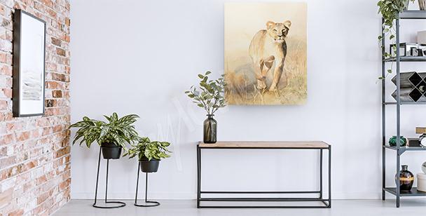 Image lionne dans la savane