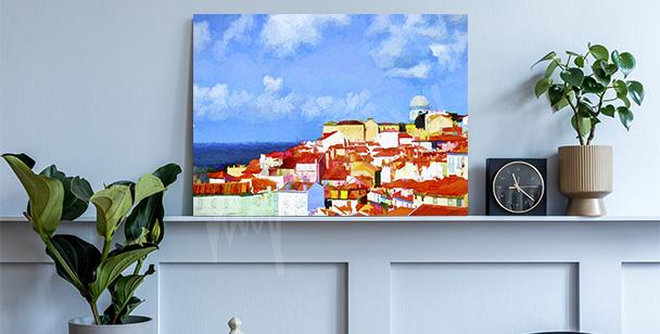 Image Lisbonne dans la peinture