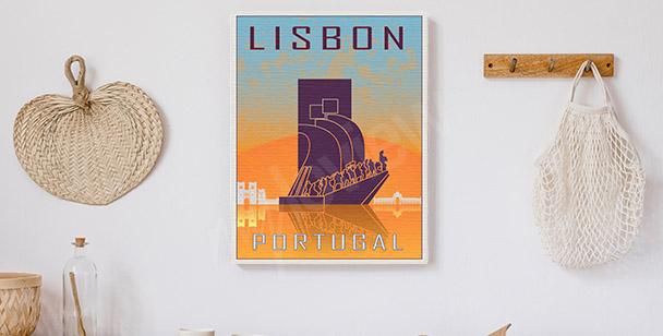 Image Lisbonne style vintage