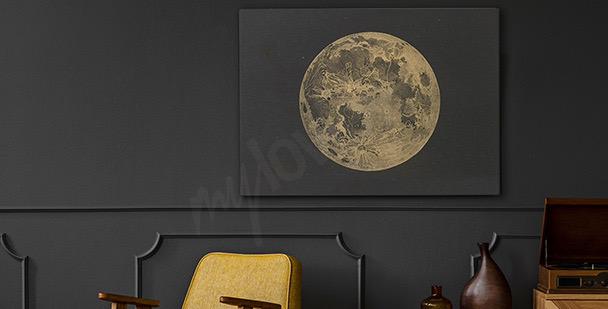 Image lune style rétro