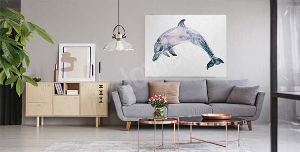 Image mammifère marin bleu