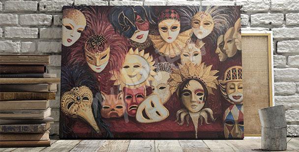 Image masques vénitiens en couleurs