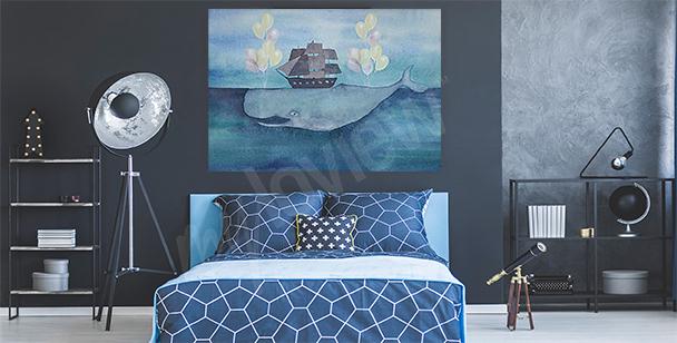 Image mer et baleine