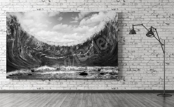 Image mer noir et blanc