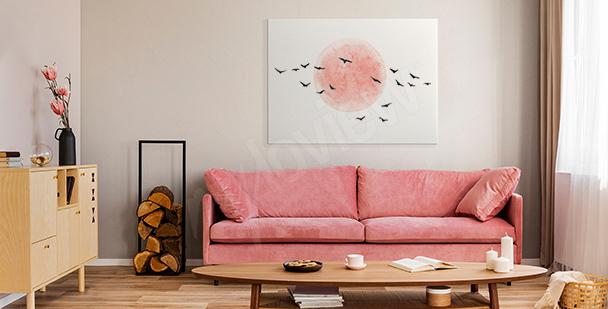 Image minimaliste avec des oiseaux